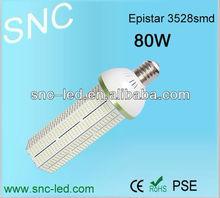 high lux 7900lm e40 led corn light 80w 3528smd AC85V-277V