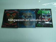 Absorbing customized aluminum foil zip lock bags/herbal incense bags