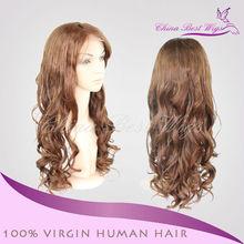 AAAAA Grade #4 pic curl 20 inch human hair wig