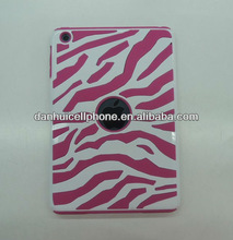hybrid pc silicone zebra design case cover for ipad mini