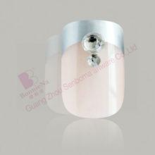 3D Diamand french artificial nails tips for nail beauty nail art
