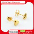 2013 novo design coração brincos fotos de brincos de ouro