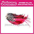 venta caliente decorativos de color rojo la naturaleza pluma almohadillas
