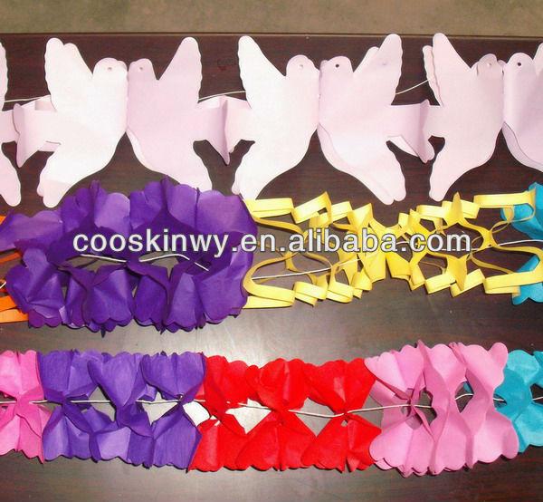 en forma de mariposa hacer guirnaldas de flores