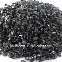 Black crushed glass stone