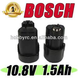 2 Battery For Bosch 10.8V Li-ion battery 1.5Ah 10.8 Volt BAT411 Lithium upto 12V
