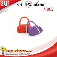 Custom lovely bag shape USB Flash Drive black golf bag usb