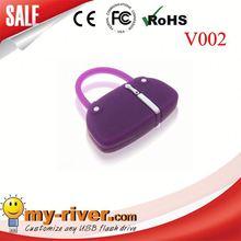 Custom lovely bag shape USB Flash Drive travel mobile charger bag