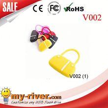 Custom lovely bag shape USB Flash Drive wood golf bag usb drive