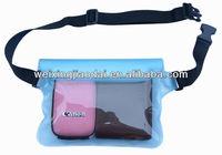 TPU plastic waterproof waist pack dry beach bag for camera and wallet