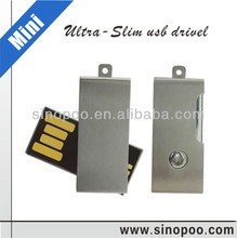 Oem metal Mini Swivel USB Disk with laser logo