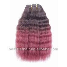 fashion new two tone yaki brazilian human hair weave remy human hair weaving
