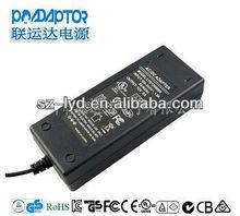 CE SAA GS FCC 12V 8A DC adapter high efficiency