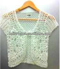 Cotton Crochet Bolero Shrug, 100% Hand Crochet Top Tank Summer Spring Sexy Shrug (KCC-HCVST0030)