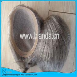 gray white color men's toupee