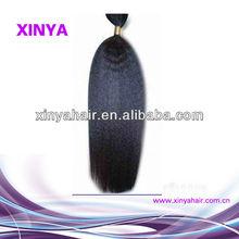 Free tangle yaki braids 100% virgin brazilian hair extension/weaving wholesale