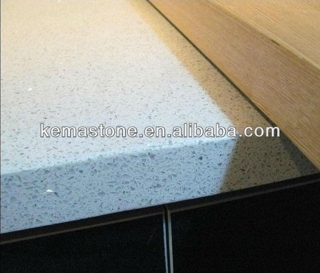 Man made white sparkle quartz stone countertop buy white Manufactured quartz countertops cost
