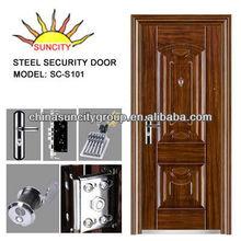 Exterior Security Deep Bending Design Heat Transfer Printing Steel Main Door SC-S101