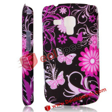 For Samsung Galaxy S Duos S7562 Shell Case, Colorful Flowers Butterflies Hard Back Shell Case for Samsung Galaxy S Duos S7562