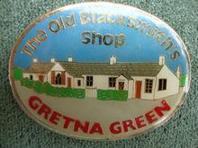 Metal Souvenir Fridge Magnet from Gretna Green, The Old Blacksmith's Shop