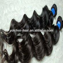 100% human hair can be dye and bleach 18'' hair pieces bangs