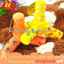 pet resin price 12.9cm yellow tripod squeak toy