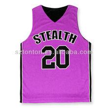 antique design pink basketball team wear uniforms