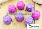 rose shape silicone soap molds