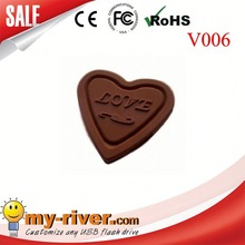 Promotional USB flash drive heart shape usb pen drives branding USB stick