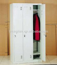 three doors metal almirah designs in bedroom