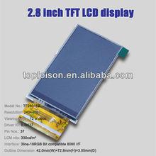 High quality 2.8inch lcd tft monitor 12v power supply module 240*400 TF28016B
