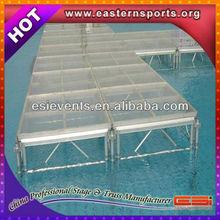 Swimming Pool Fashion Organic Aluminum Moveble Glass Stage