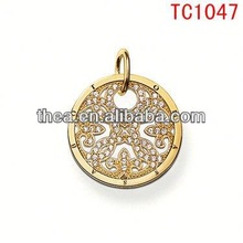 TC1047 Handmade Diamond Jewelry Wholesaler Manufacturer,Micro Pave Diamond round charms