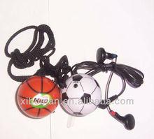 super mini basketball shape fm radio with cord