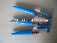 promotion gift design floated in the water bottle star inside blue liquid floating pen 2013