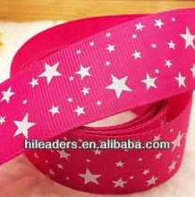 wholesale printed star grosgrain ribbon celebrate it