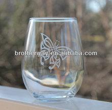 stemless wine glass 12oz