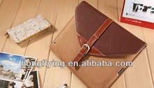 2013 protective leather Rotary case with belt buckle for ipad mini