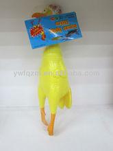promotional plastic children yellow chicken toy shrilling chicken