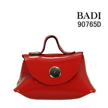 2013 bright red pu bags cute bags pu colour fashion bag