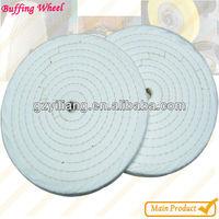 3-8 row circles cotton abrsive leather polishing wheels.