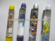 metal promotion 3D floaters custom liquid filled pen factory manufacture
