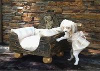Luxury antique style gold/black pet bed (BG800015)