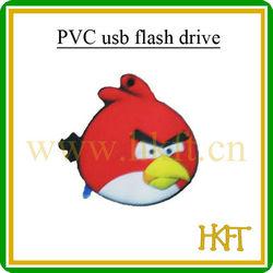 Rigorous testing chipset usb flash drive,PVC bird shape usb flash memory