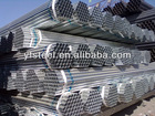 high quality galvanized pipe with blue color strips two ends