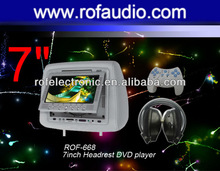 Rofaudio Car 7 inch Headrest DVD Player with SONY Loader