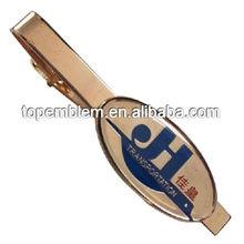 Soft enamel with epoxy tie clip