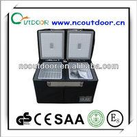 100L protable dual zone micro freezer