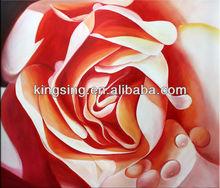 handmade rose oil Painting for art decoration