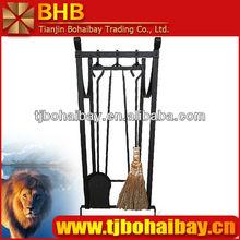 BHB antique brass fireplace tool set